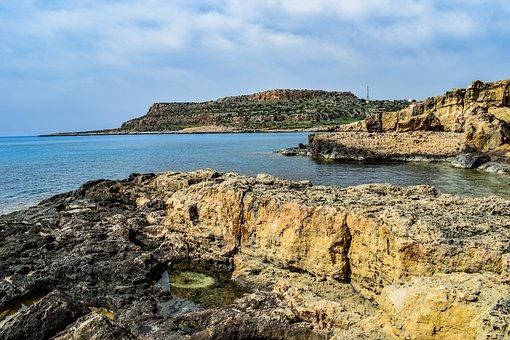 Cyprus, Cavo Greko, National Park, Coast, Rocky, Sea