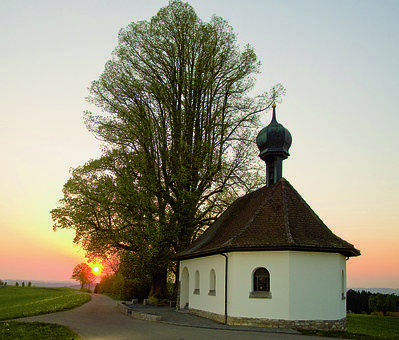 Chapel, Ruswil, Lucerne, Switzerland, Tree, Home