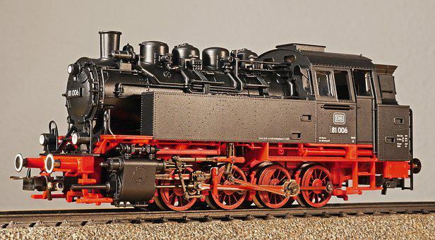 Steam Locomotive, Model, Scale H0, Tank Locomotive