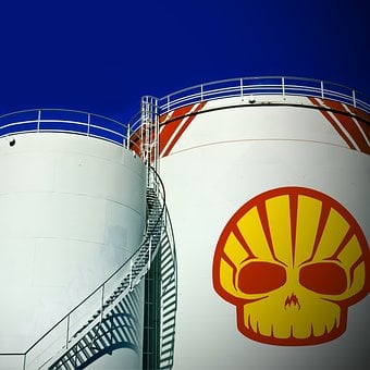 Oil Tank, Storage Tank, Logo, Brand, Mark, Shell, Fuel