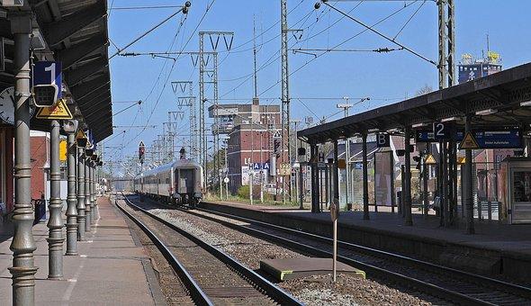 The Train Station Is Empty, East Frisia, Track Climb