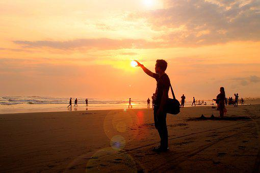 Twilight, Beach, Afternoon, Sunset, Indonesian, Nature