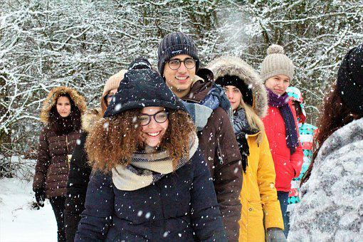 Winter, Snow, Cold, Human, Portrait, Group Of People