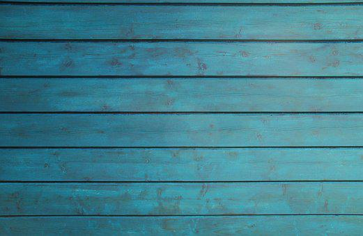 Wood, Wall, Barn, Color, Petrol, Blue, Texture