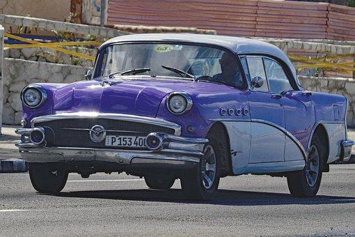 Cuba, Havana, Almendron, Buick, Taxi, Riviera Hotel