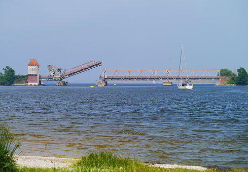 Schlei, Bascule Bridge, Lindaunis Bridge, Mecklenburg