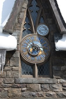 Old, Building, The Clock Tower,harry Potter, Hogsmeade