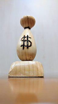 Wood, Money, Lot, Euro, Dollar, Coins, Bag, Lucky Charm