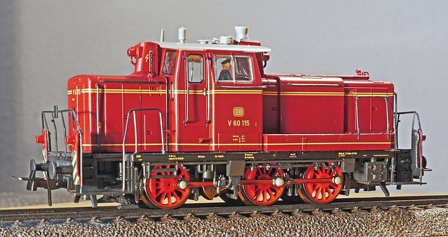 Diesel Locomotive, Switcher, Deutsche Bundesbahn, Model