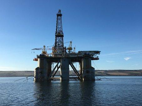 Oil Industry, Drilling Rig, Scotland Invergordon