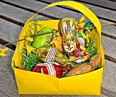 Easter, Easter Körbchen, Easter Nest, Easter Eggs