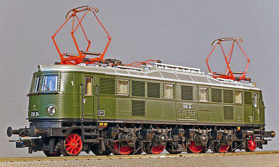 Electric Locomotive, Model, Scale H0, Express Train