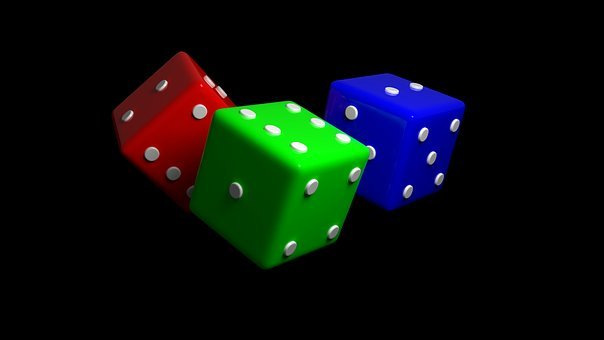 Dice, Cube, Red, Blue, Green, 3 Dice, 3d Dice