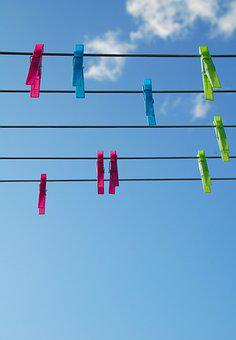 Clothes Peg, Clothesline, Rope, Air, Hang