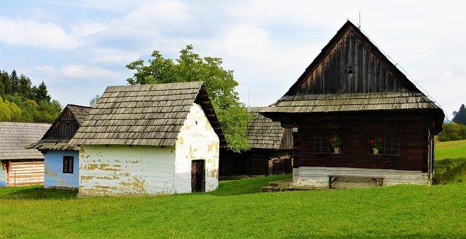 Architecture, Village, Former, House, Grange, Wood
