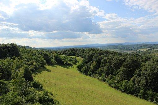 Nature, Landscape, Wood, Panorama-like, Hill