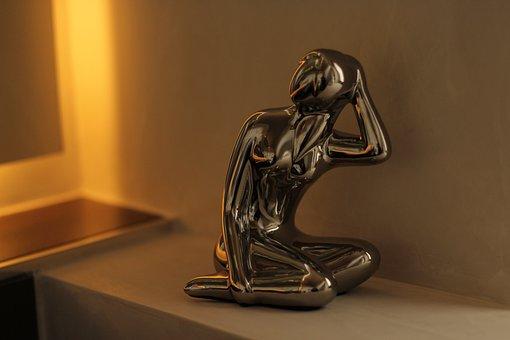 Sculpture, Man, Decoration, Figure, Think, Light