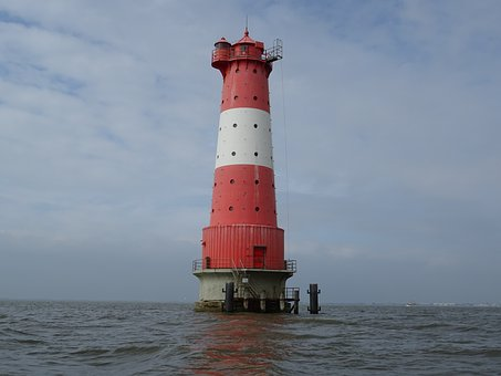 Lighthouse, Sea, Waters, Nautical, Navigation, Coast