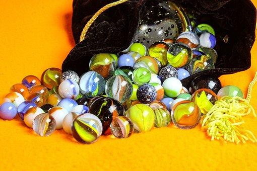 Marbles, Desktop, Bag Of Marbles, Colors, Multicolor