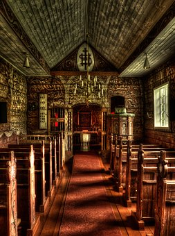 Inside, Architecture, Church, Jostedal, Norway