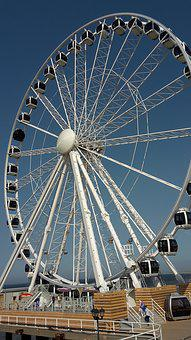 Wheel, Ferris Wheel, Roll Along, Entertainment