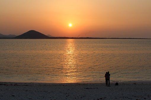 Sunset, The Body Of Water, Dawn, Sea, Jeju Island, Jeju