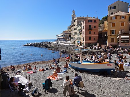 Sea, Side, Travel, City, Tourism, Italy, Genoa