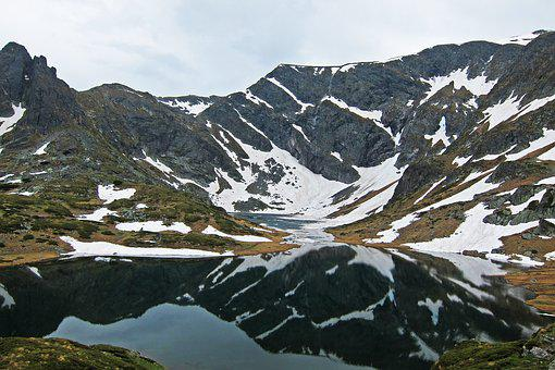 Mountain Lake, Snow, Spring, Alpine, Lake, Landscape