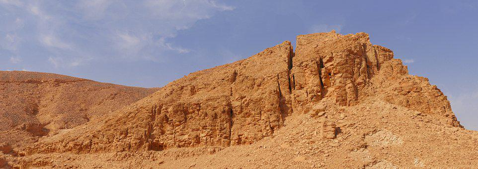 Desert, Sand, Dry, Panorama, Mountains, Stone, Hill