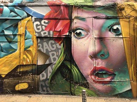 Human, Graffiti, Athens, Street Art