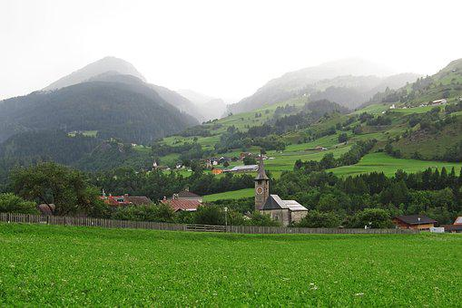 Church, Alps, Switzerland, Travel, Europe, Nature