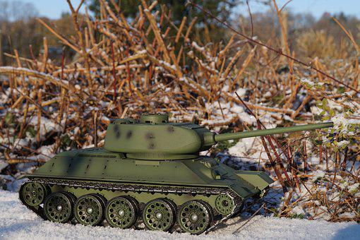 Camouflage, Panzer, Army, War, Military, Tank, Rc Model
