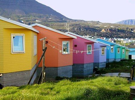 The Freshly Painted Houses, Greenland, Jakobshavn
