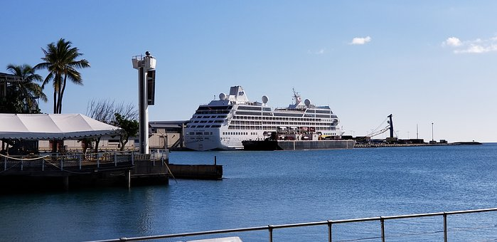 Water, Travel, Harbor, Pier, Sky, Sea, Ship, Panoramic