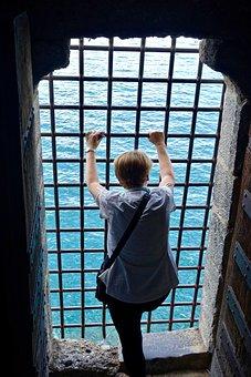 View, Vista, Bars, Water, Window, Indoors, Person