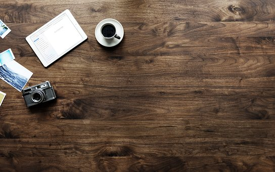 Wood, Wooden, Desktop, Table, Desk, Aerial, Background