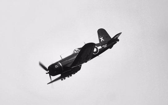 Airplane, Aircraft, Flight, Military, Vehicle, Corsair