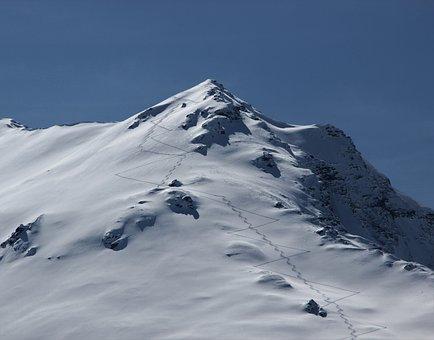 Touring Skis, Alpine Skiing, Snow, Mountain, Panorama