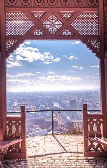 Architecture, Goal, Sky, Travel, Bridge, Wood, Window