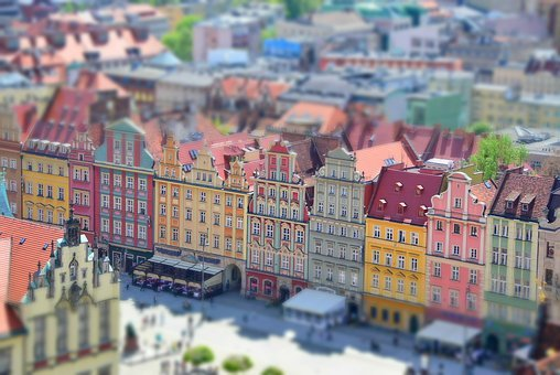 City, Architecture, Panorama, Roof, Wroclaw