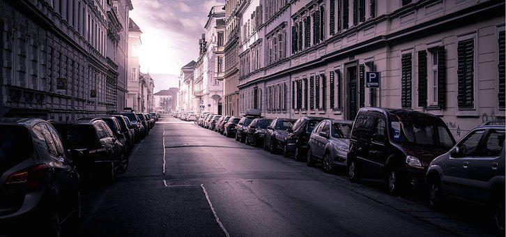 Road, City, Urban, Panorama, Architecture, Patch