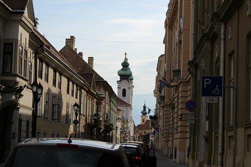 Architecture, Street, City, Outdoors, Győr, Cityscape