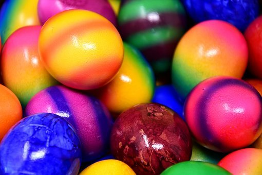 Easter Eggs, Colored, Colorful, Easter, Egg