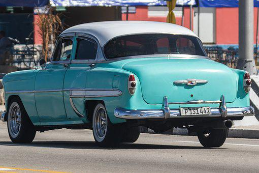 Cuba, Havana, Almendron, Taxi, Classic, Car, Chevy