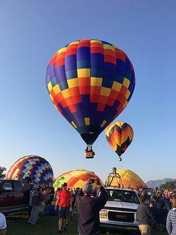 Balloon, Hot-air Balloon, People, Festival, Sky