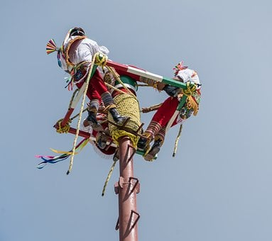 Acrobats, Aerial Performance, Costa Maya, Mexico