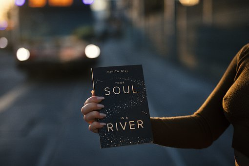 Hand, Book, Reading, Woman, Soul, River, Person
