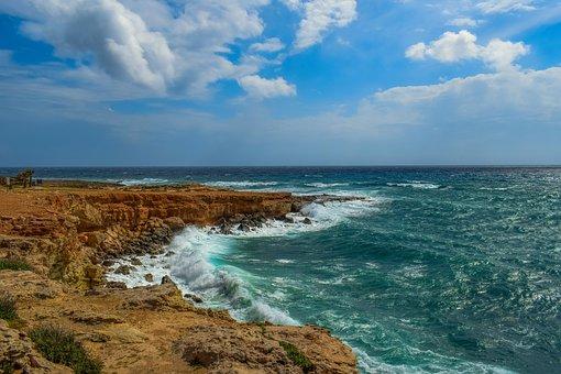 Landscape, Nature, Sky, Clouds, Sea, Waves, Seashore