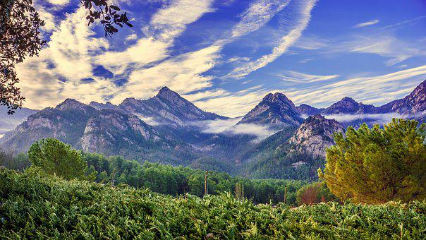 Panoramic, Mountain, Mists, Nature, Landscape, Sky