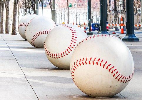 Reds, Baseball, Ball, Sport, Recreation, Leather